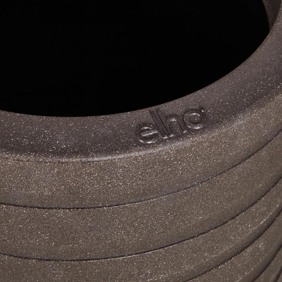 Cache-pot marron en plastique H43xD35cm-ALLURE