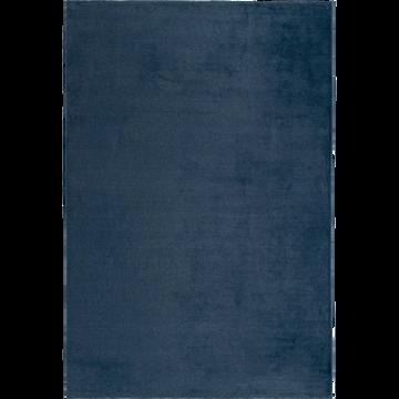 Tapis imitation fourrure bleu figuerolles 150x200cm-ROBIN
