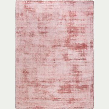Tapis en viscose - rose poudré 160x230cm-TANSEN