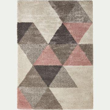 Tapis à motifs géométriques - rose 120x170cm-OSLO