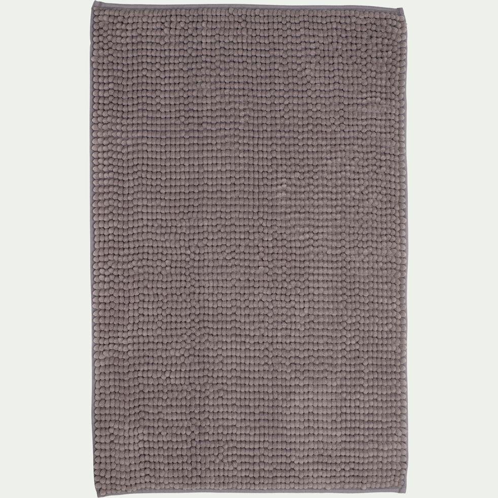 Tapis de bain rectangulaire antidérapant - l50xL80cm gris restanque-Picus