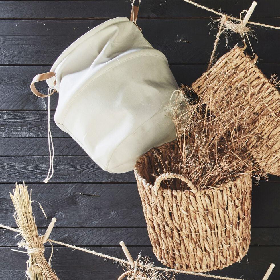 Panier en tissu blanc ventoux D40cm-CARINO