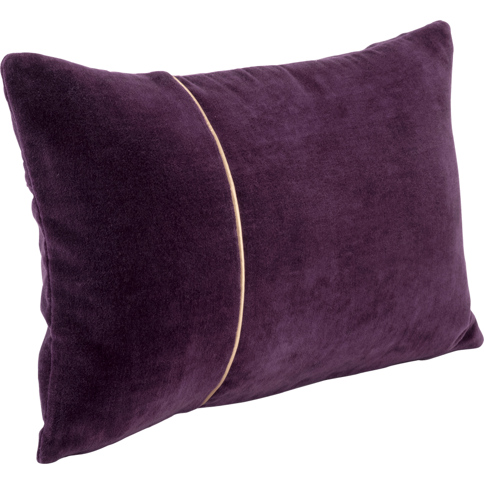 Coussin en velours violet 30x50cm-VELMA