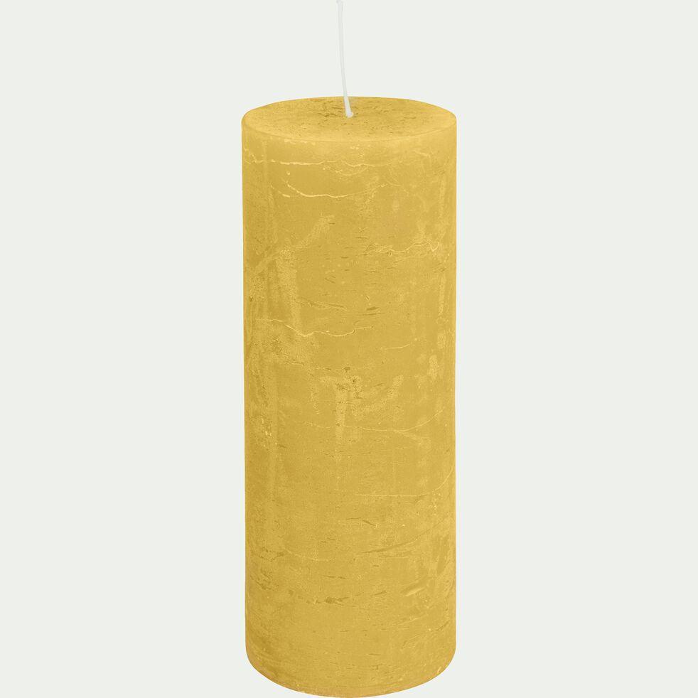 Bougie cylindrique - beige nèfle H19cm-BEJAIA