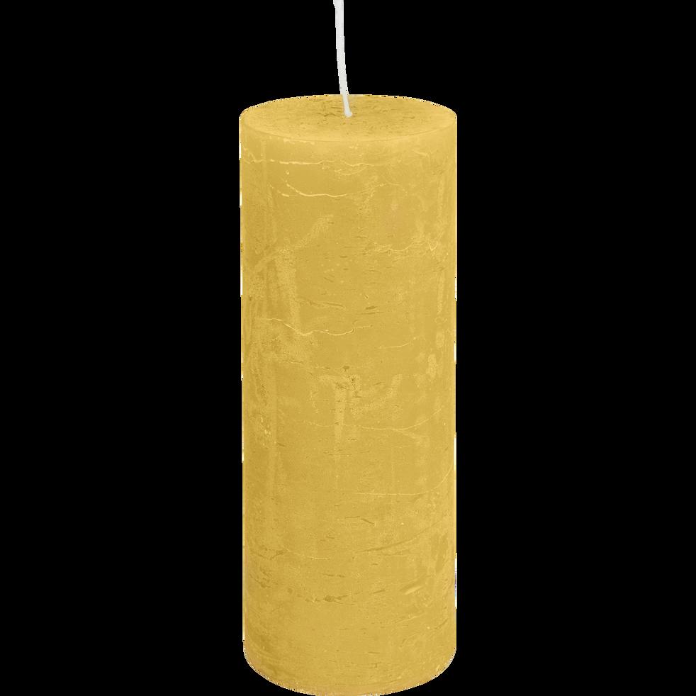 Bougie cylindrique coloris beige nèfle-BEJAIA