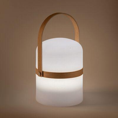 Lampe à poser extérieur nomade - H26,50xD14,50cm blanc-NOMAD