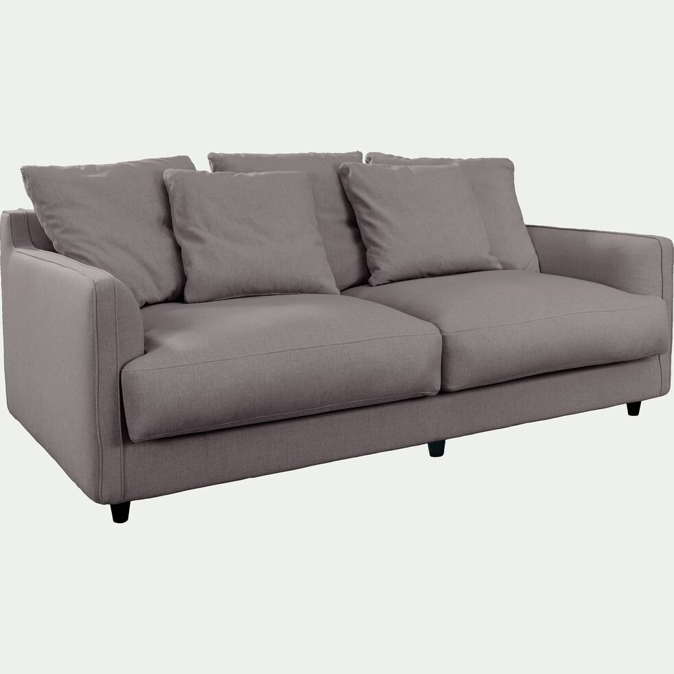 Canapé 3 places convertible en tissu gris borie-LENITA