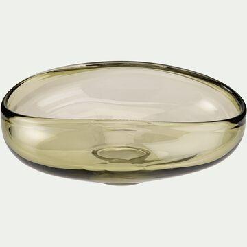 Coupe irrégulière en verre - vert D21,5cm-VIKTOR