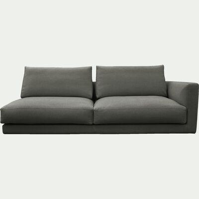 Élément de canapé 3 places droit modulable en tissu gris restanque-AUDES