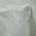 Lot de 2 taies d'oreiller en lin Blanc capelan 50x70cm-VENCE