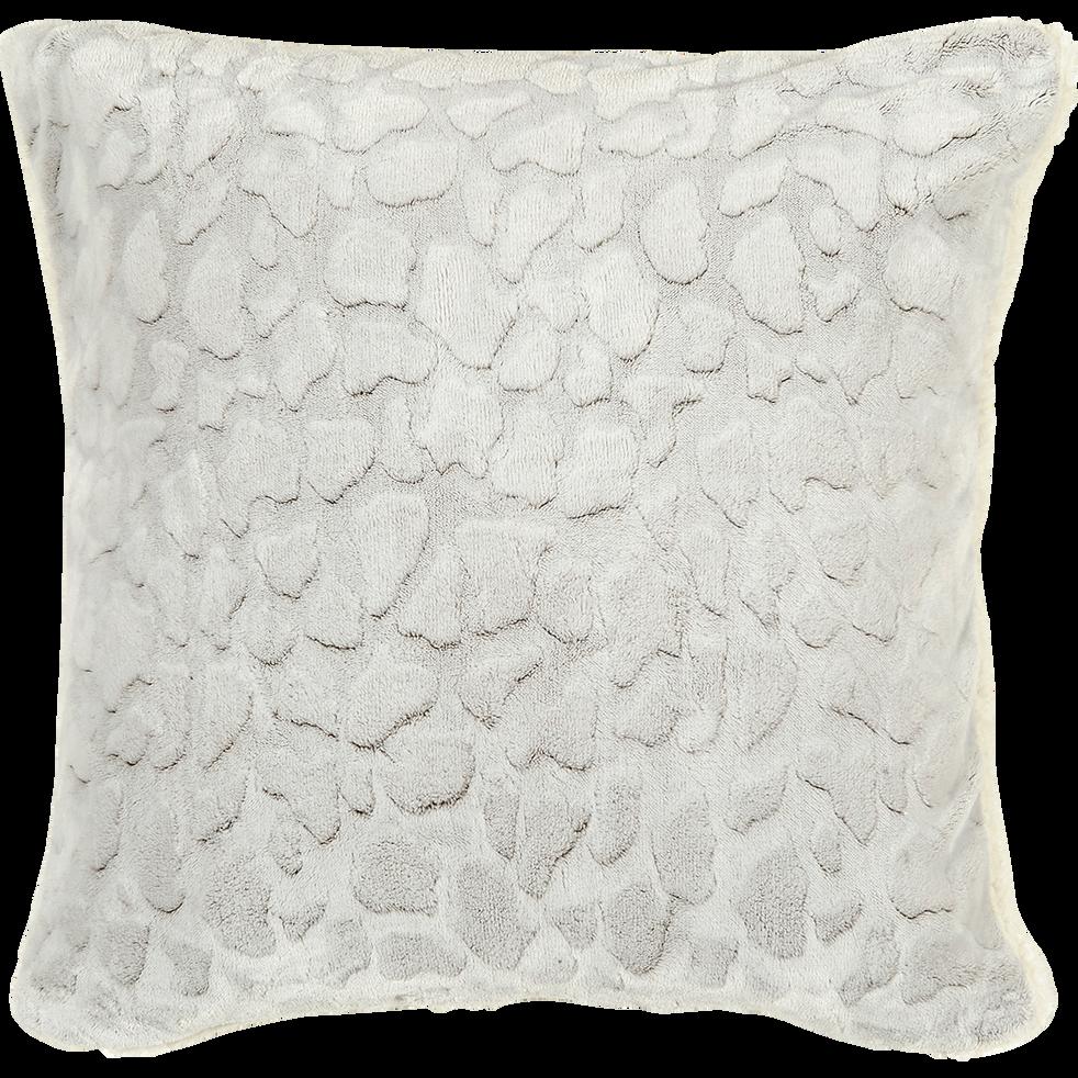 Housse de coussin carrée imitation fourrure 65x65cm-Sofy