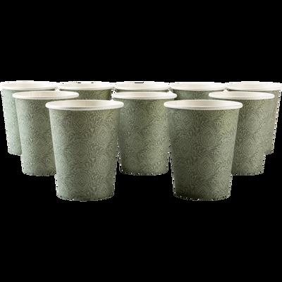 Lot de 10 verres en carton à motif amande 25cl-SAZE