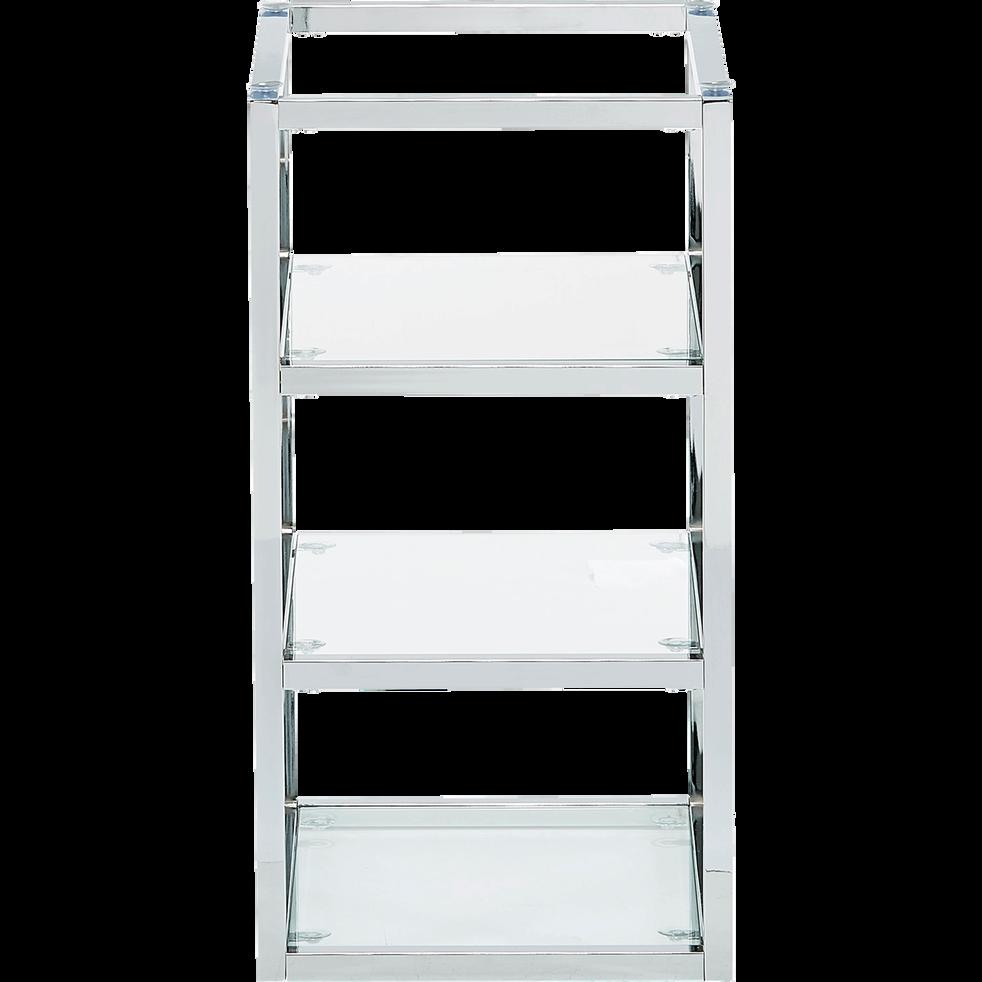 Tréteau  caisson de bureau avec 3 tablettes en verre-ARMADA