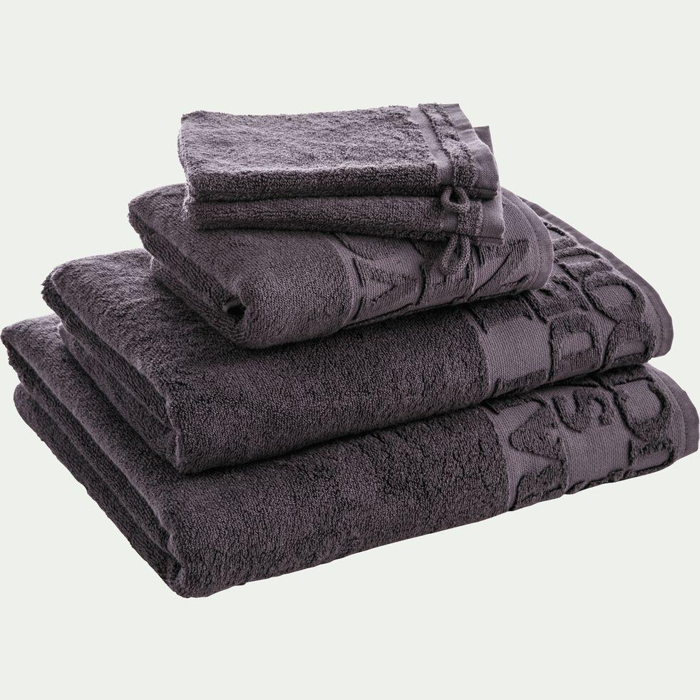 Drap de bain 100x150cm à motifs gris-BULLY