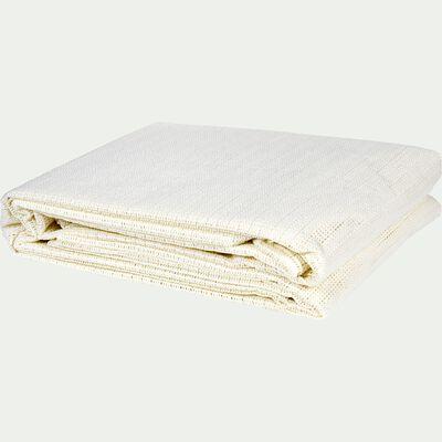 Tapis antidérapant en polyester - blanc 140x230cm-Antigliss