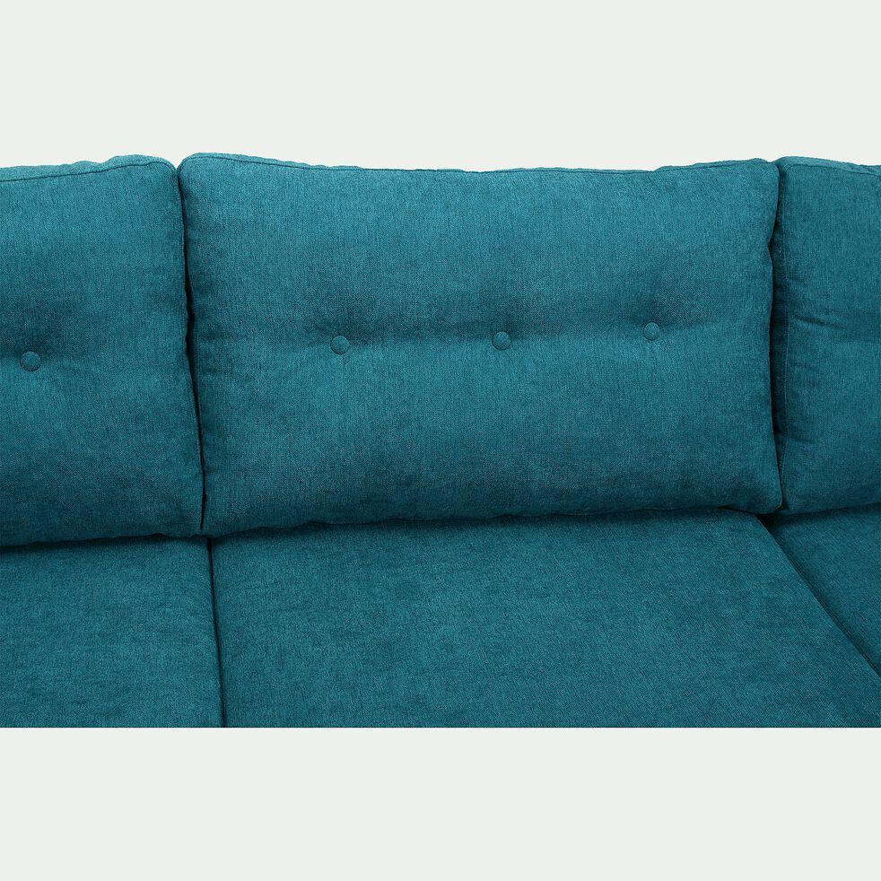 Canapé d'angle fixe droit en tissu - vert-ICONE