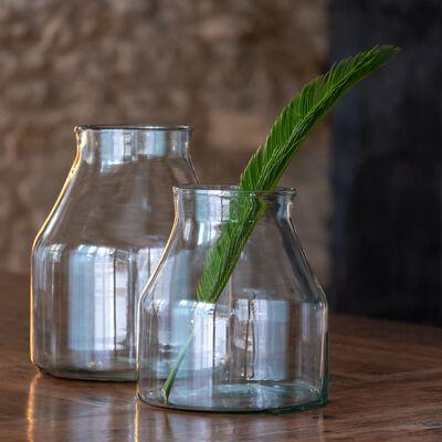 Vase en verre - transparent H29cm-GALICE