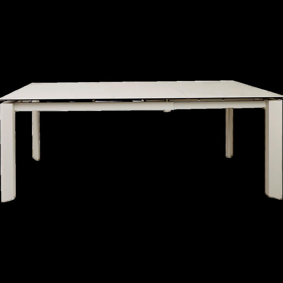 Table de repas extensible effet marbre - 6 à 10 places-MARTHE