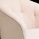 Fauteuil en tissu écru beige esterel-MARCELLIN