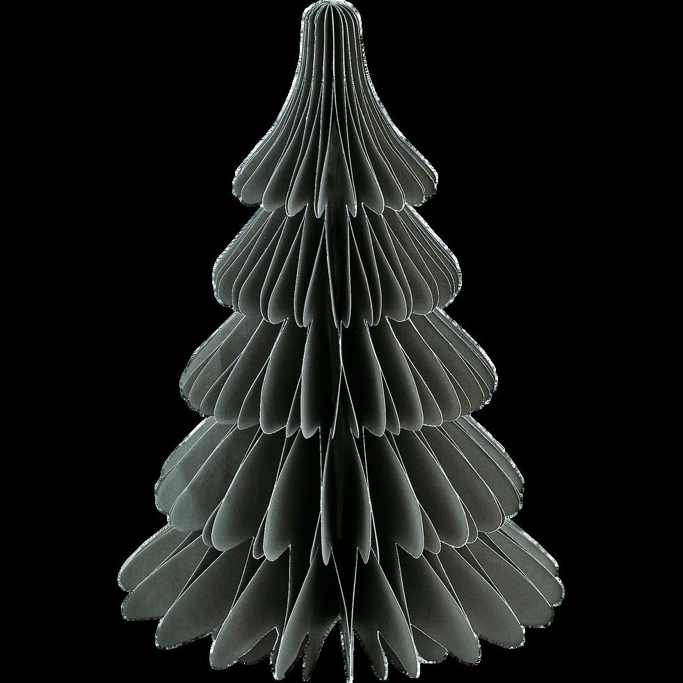 Sapin à poser en papier vert cèdre H24cm-TROPHIME