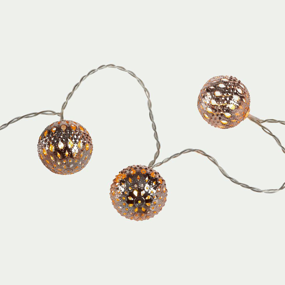Guirlande 20 boules en métal 4m-BOUBOU