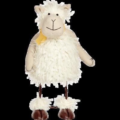 Mouton décoratif blanc H31xL17xP12cm-MOUTON