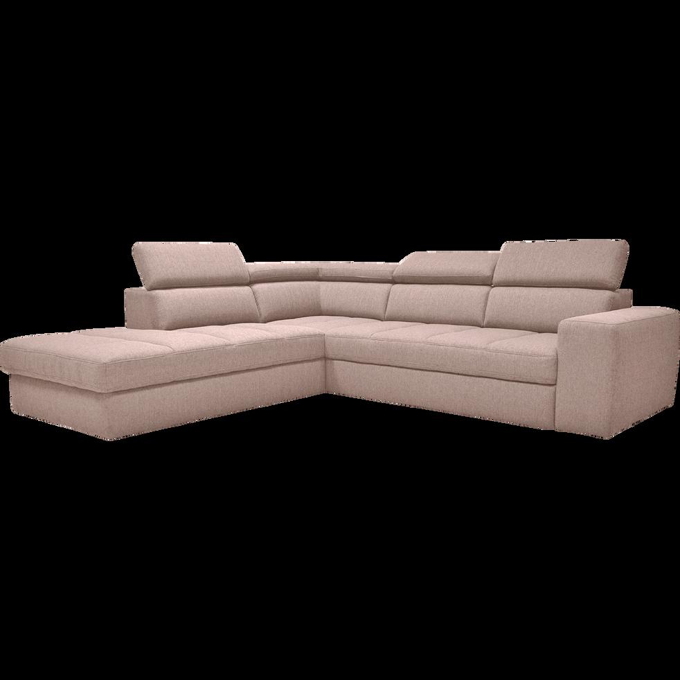 canap d 39 angle gauche panoramique convertible en tissu gr ge tonin canap s d 39 angle en tissu. Black Bedroom Furniture Sets. Home Design Ideas