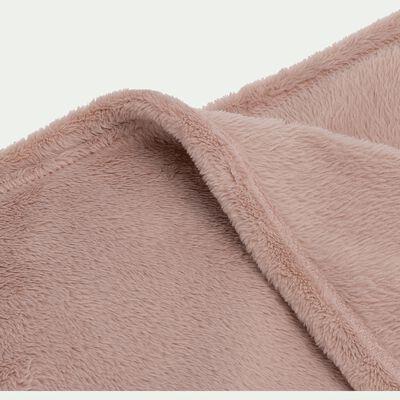 Couvre lit effet polaire- rose rosa 180x220cm-ROBIN