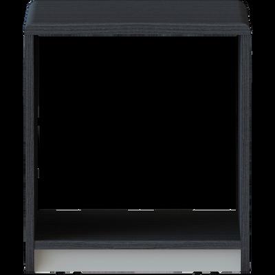 Table de chevet avec roulettes amovibles Noir-COOL