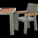 Table de jardin en aluminium et composite Vert cèdre-ALEP