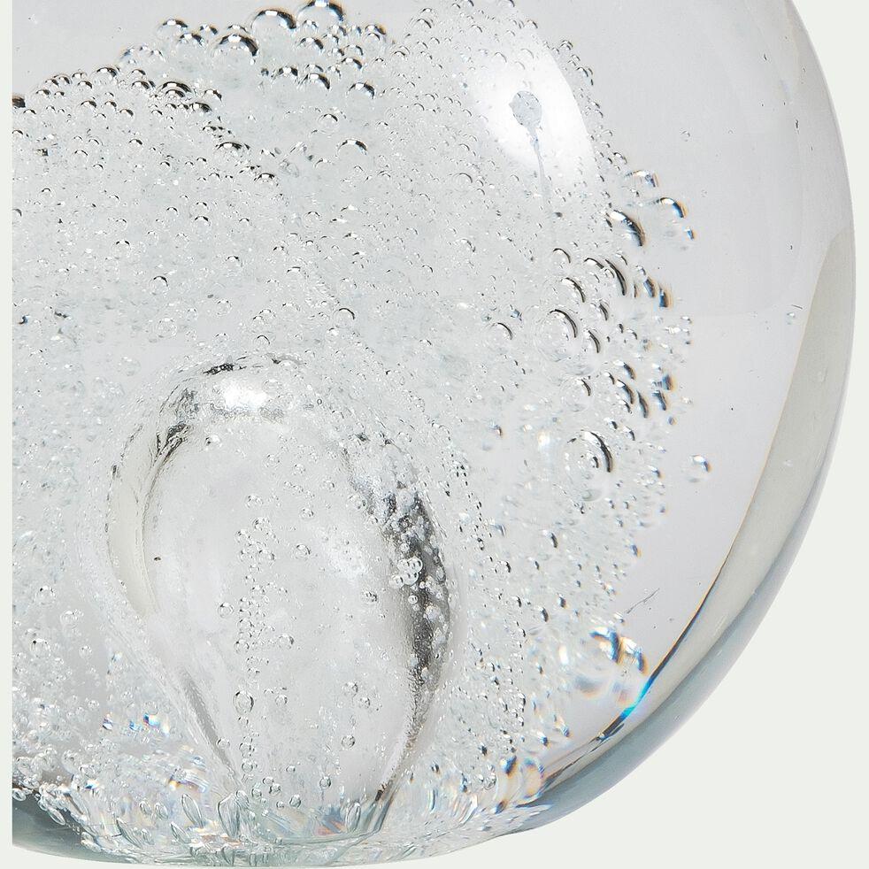 Boule décorative en verre - transparent D11cm-MARGARETA