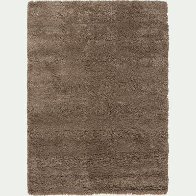 Tapis à poils longs taupe 120x170cm-Kris