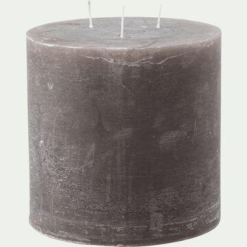Bougie lanterne - brun châtaigner 15x15cm-BEJAIA