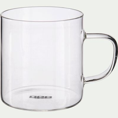 Lot de 4 tasses transparentes en verre 25cl-SICHUAN