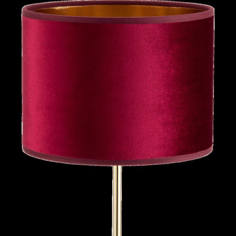 Abat-jour en velours rouge et doré D20cm-GRAND HOTEL