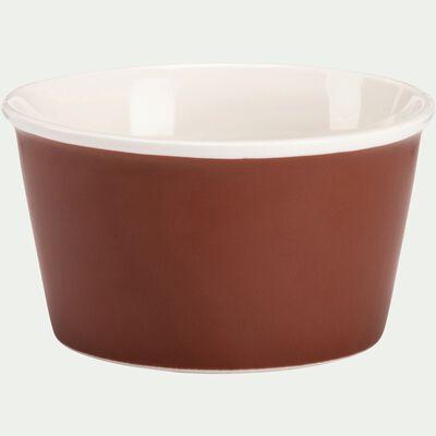 Coupelle en porcelaine marron D12,5cm-CAFI