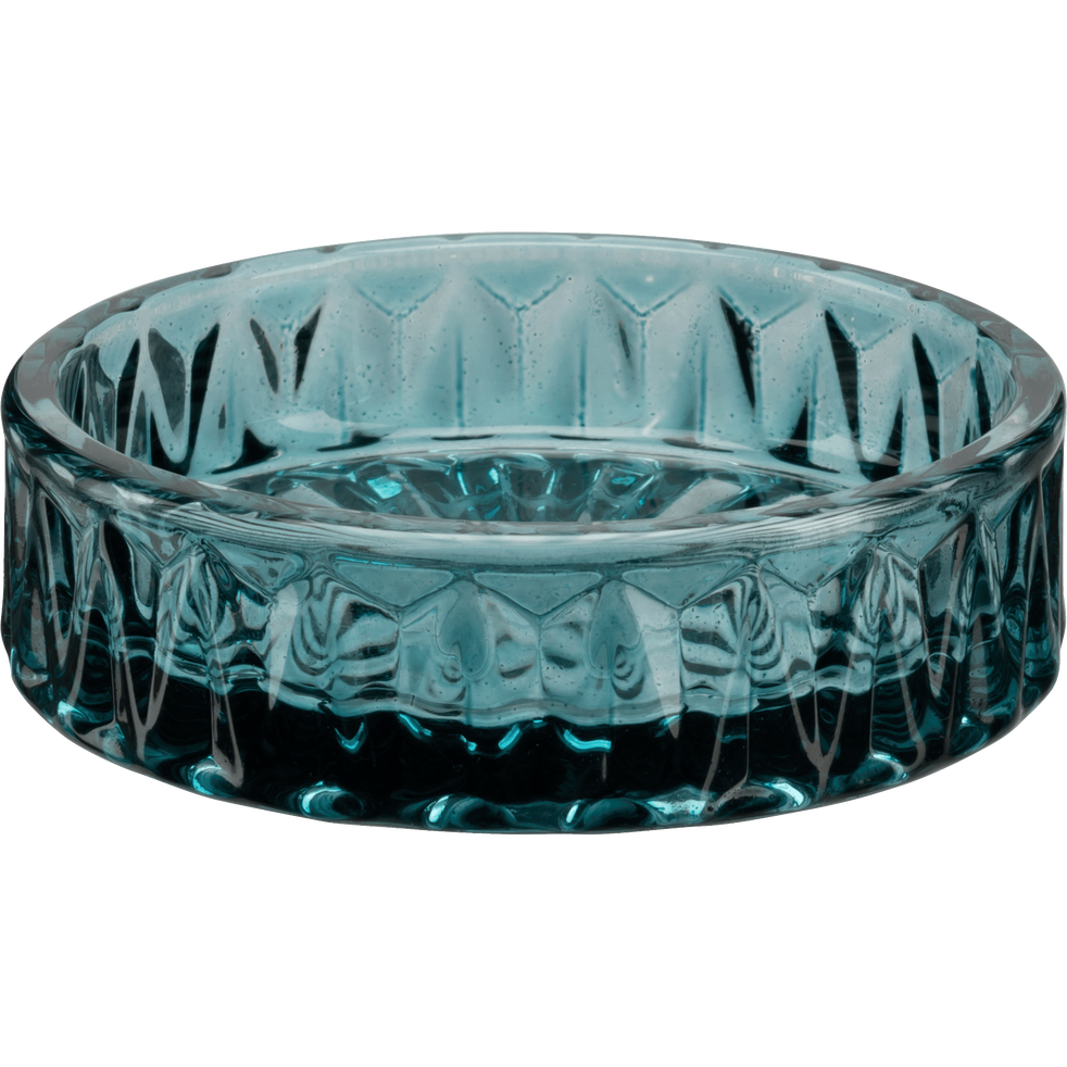 Coupelle en verre bleu D9,4cm-Migno
