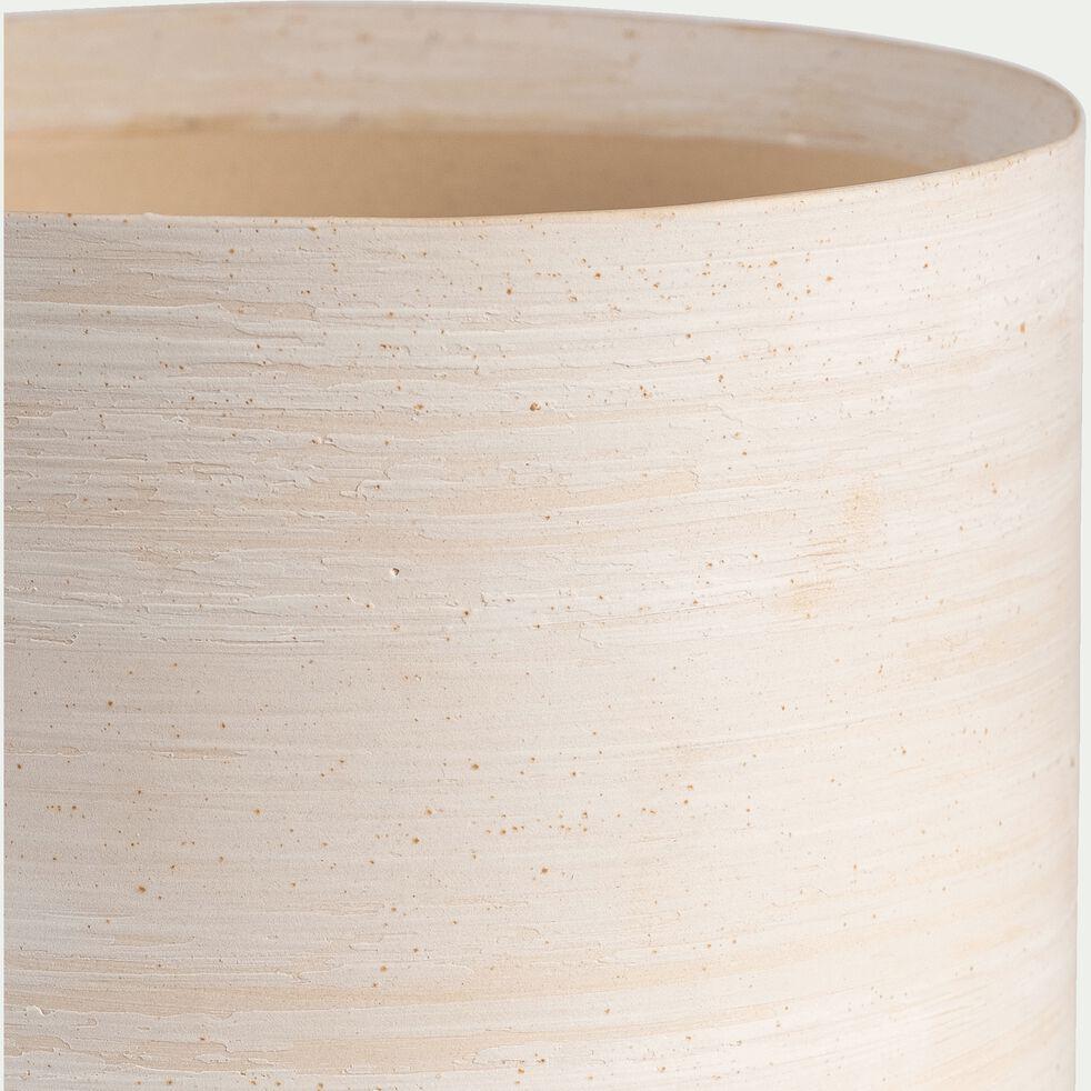 Cache-pot en céramique D7xH7cm - blanc ventoux-Martin