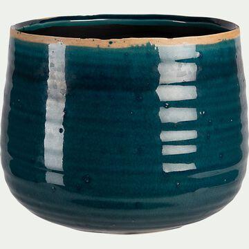 Pot en céramique - bleu turquoise D21xH17cm-PABRAM