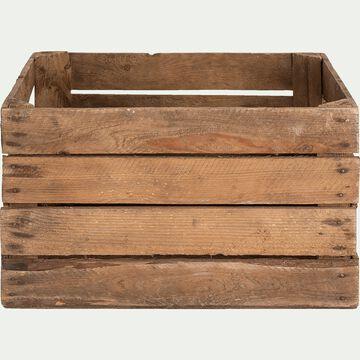 Cagette en bois de pin - naturel L50xl40cm-MARIU