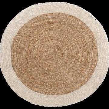 Tapis en jute rond 120cm blanc ventoux-ANTALYA