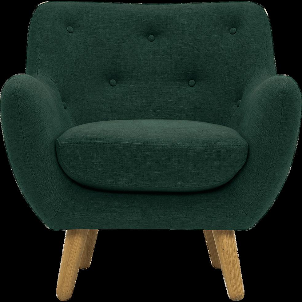 fauteuil en tissu vert fonc poppy fauteuils et poufs alinea. Black Bedroom Furniture Sets. Home Design Ideas