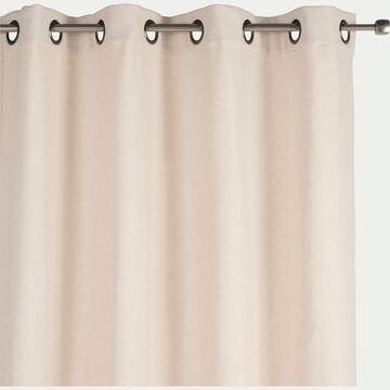 Rideau à œillets en lin et coton - beige roucas 140x250cm-CEZE