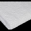 Serviette invité blanc ventoux en coton nid d'abeille-CLEMATIS
