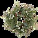 Couronne en rotin vert D61cm-MAI
