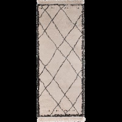 Tapis de couloir esprit berbère 80x200cm-ARAMON