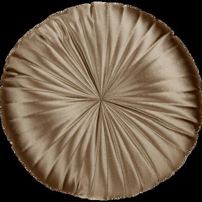 Coussin rond grège D40cm-SCARLETT
