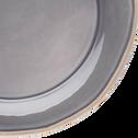 Assiette plate en faïence gris restanque D27cm-LUBERON