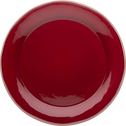 Assiette plate en faïence rouge sumac D27cm-LUBERON