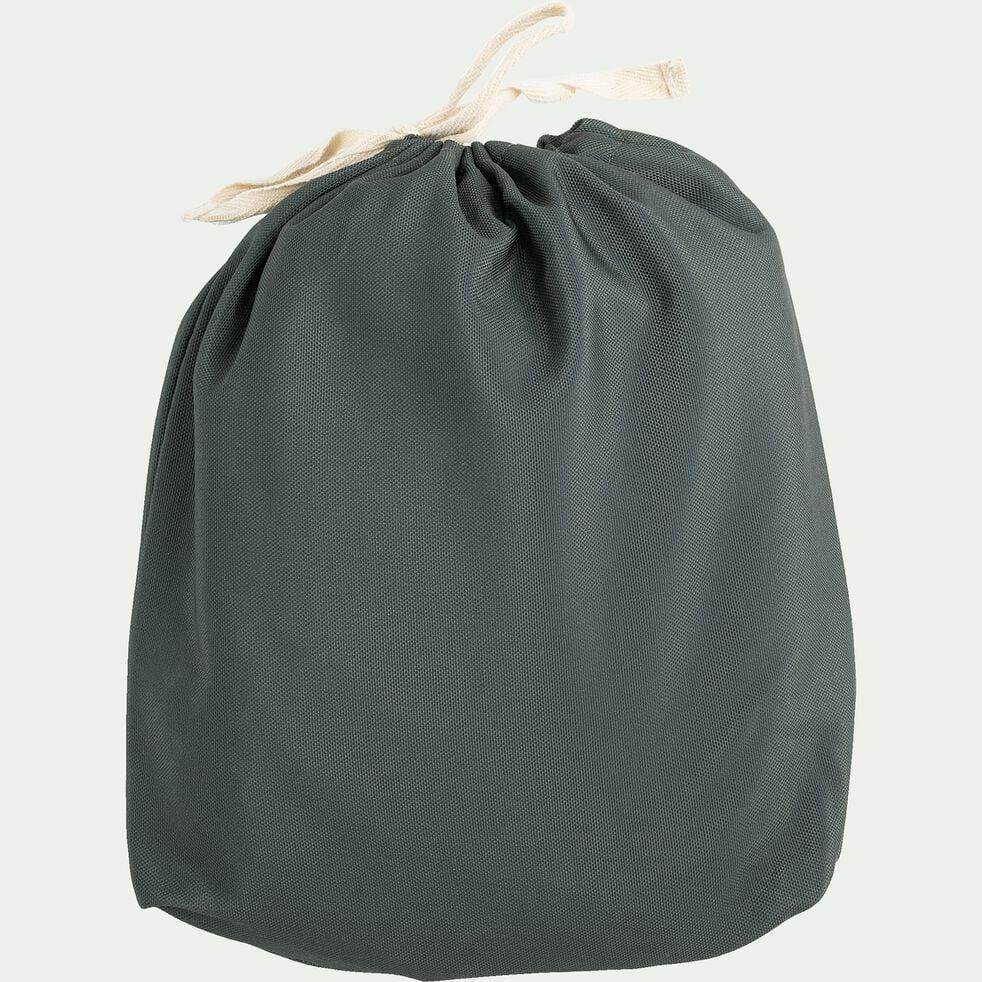 Pouf de jardin en tissu - vert cèdre D53cm-Caprice